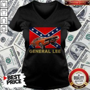 Official General Lee Dixieland Flag V-neck