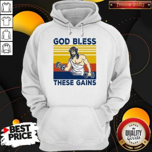 Official God Bless These Gains Vintage Hoodie