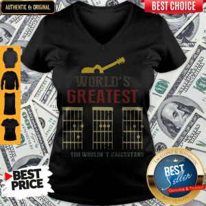 Official Guitar World Greatest Dad Ever Father's Day V-neck