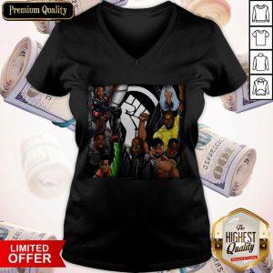 Official Heroes Black Lives Matter V-neck