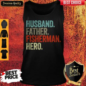 Official Husband Father Fisherman Hero Tank Top