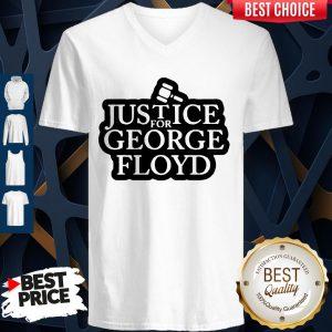 Official Law Justice For George Floyd V-neck