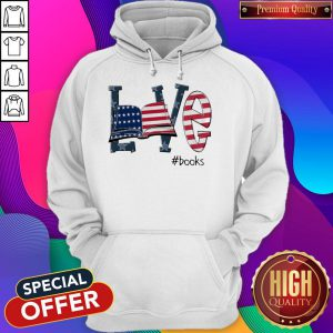 Official Love #Books America Flag Hoodie