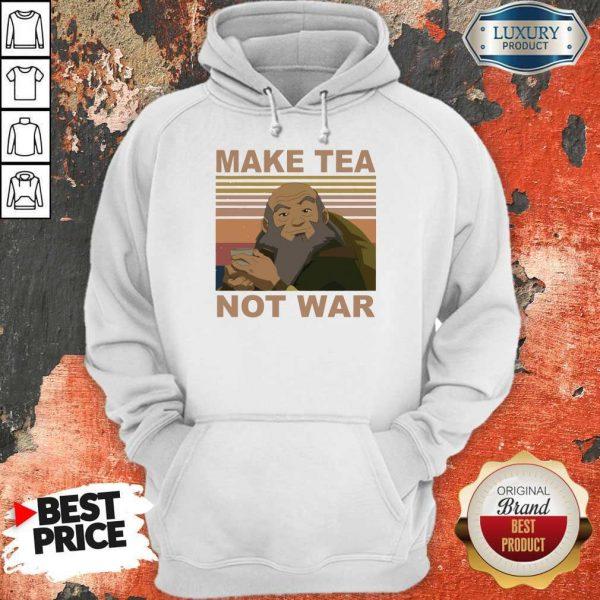 Official Make Tea Not War Vintage Hoodie