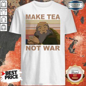 Official Make Tea Not War Vintage Shirt