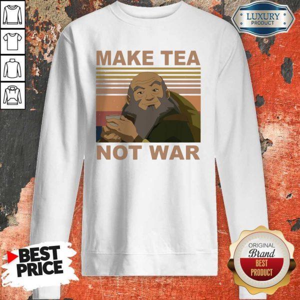 Official Make Tea Not War Vintage Sweatshirt
