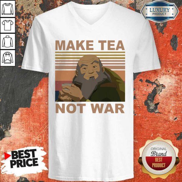 Official Make Tea Not War Vintage V-neck