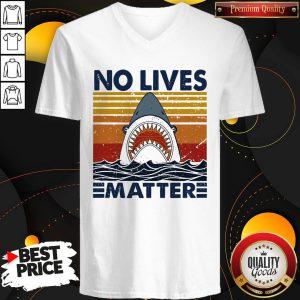 Official Shark No Lives Matter Vintage V-neck