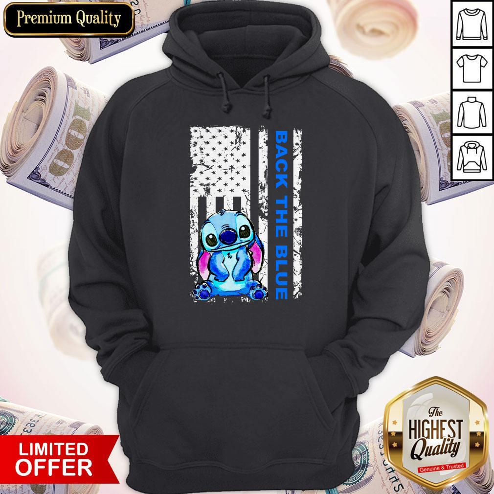 Official Stitch Back The Blue Hoodie