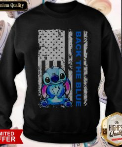 Official Stitch Back The Blue Sweatshirt