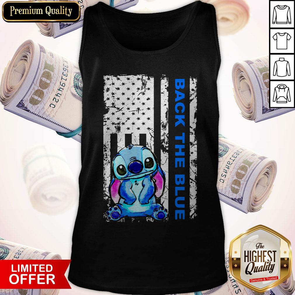 Official Stitch Back The Blue Tank Top