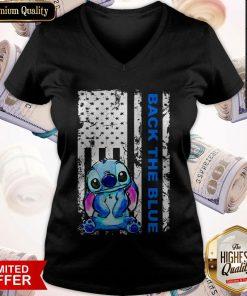 Official Stitch Back The Blue V-neck