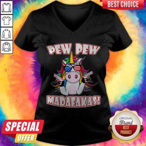 Official Unicorn Pew Pew Madafakas V-neck