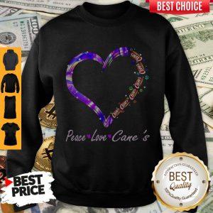 Peace Love Raising Canes Chicken Fingers Heart Sweatshirt