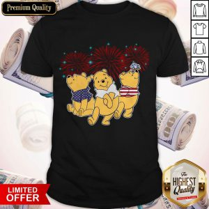 Pooh Disney Happy The 4th Of July Merica American Flag Independence Day Shirt