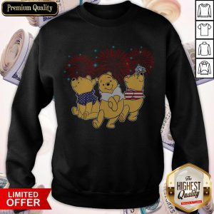 Pooh Disney Happy The 4th Of July Merica American Flag Independence Day Sweatshirt