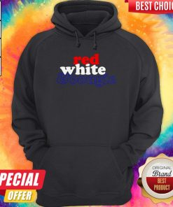 Red White Bougie Independence Day Hoodie