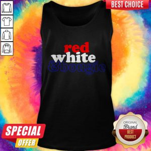 Red White Bougie Independence Day Tank Top