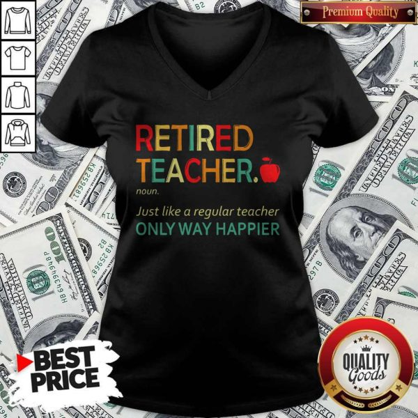 Retired Teacher Definition V-neck