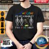 Skeleton Autism It's Not A Disability It's Different Ability Shirt