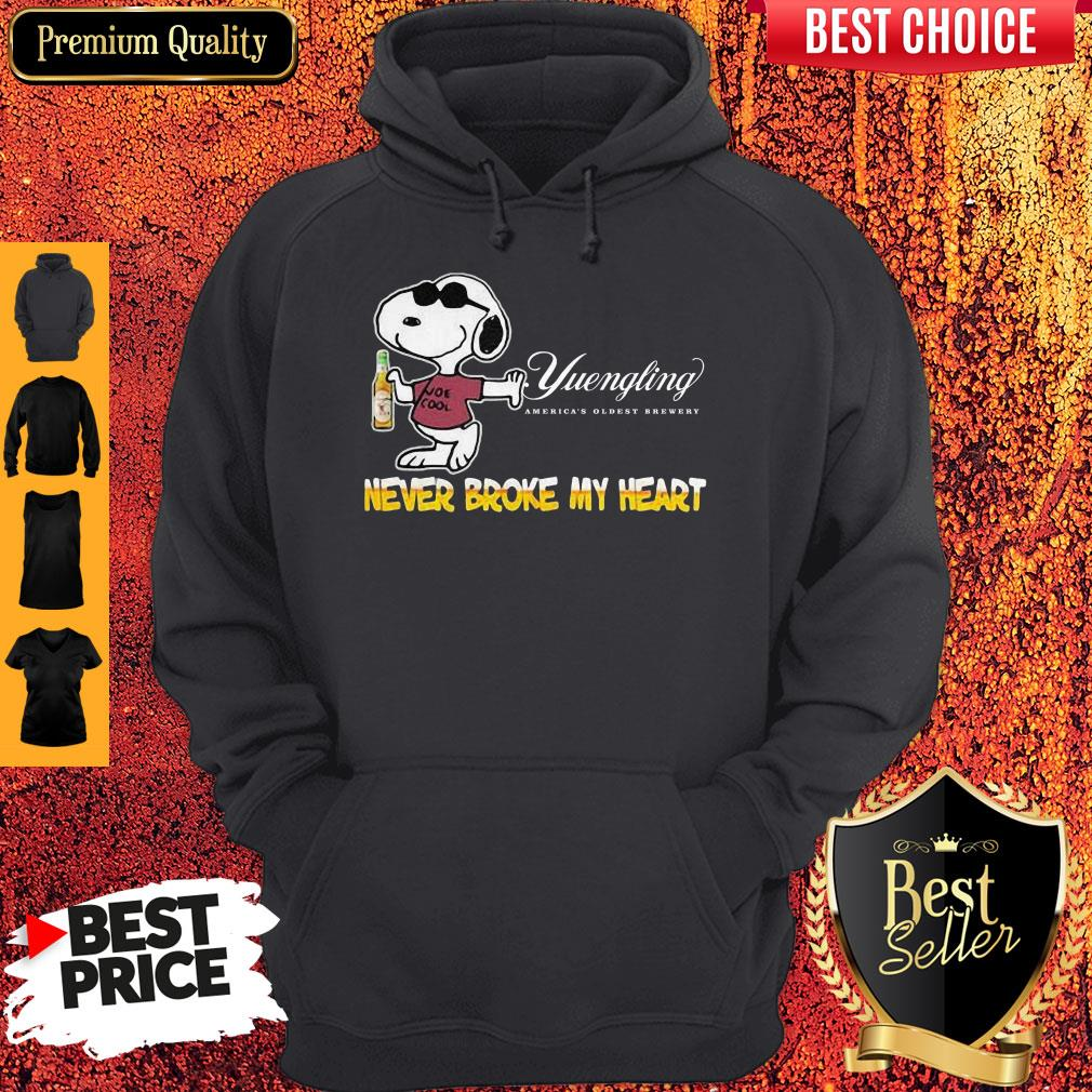 Snoopy Yuengling America?s Oldest Brewery Beer Never Broke My Heart Hoodie