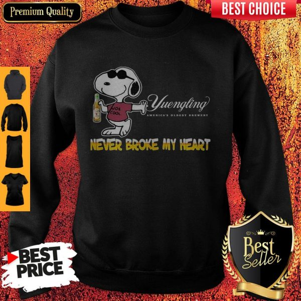 Snoopy Yuengling America's Oldest Brewery Beer Never Broke My Heart Sweatshirt