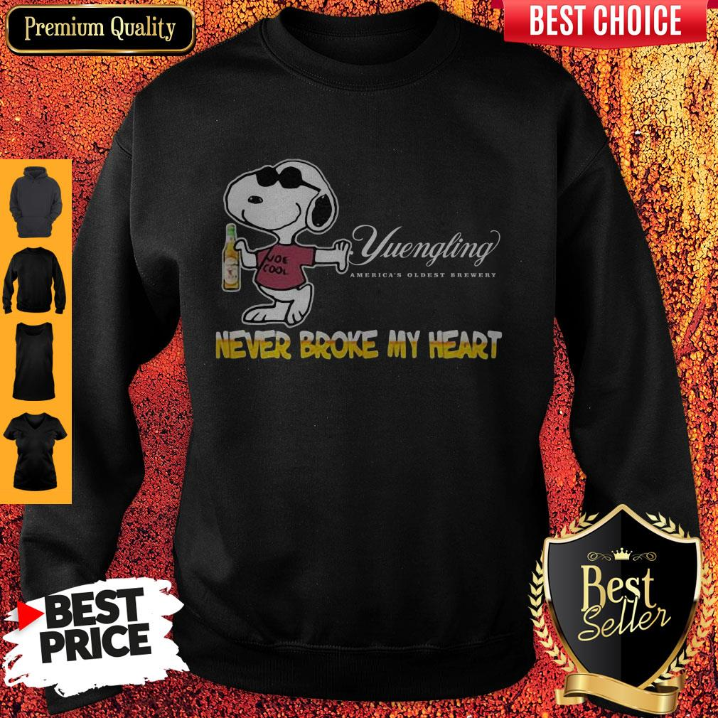 Snoopy Yuengling America?s Oldest Brewery Beer Never Broke My Heart Sweatshirt