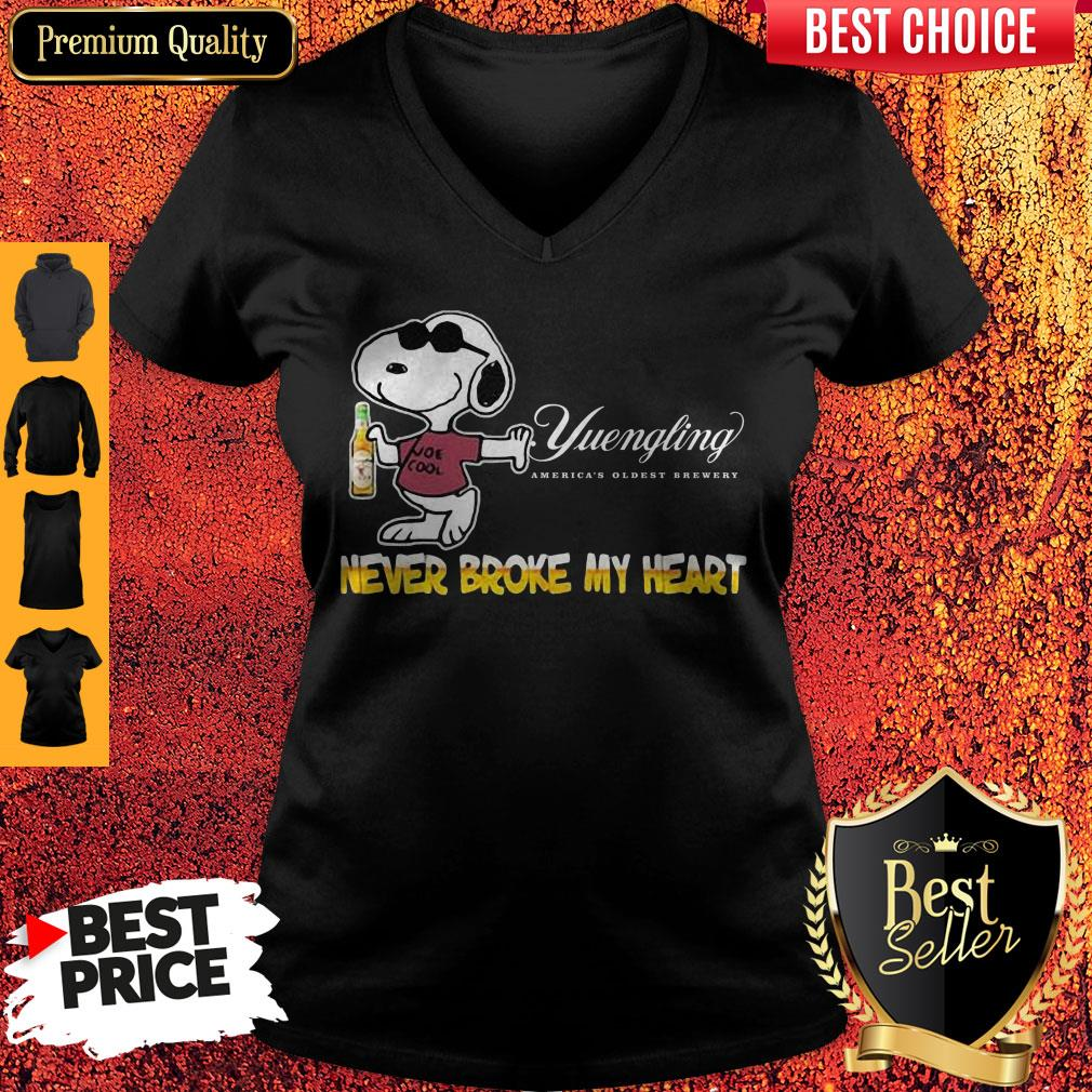 Snoopy Yuengling America?s Oldest Brewery Beer Never Broke My Heart V-neck