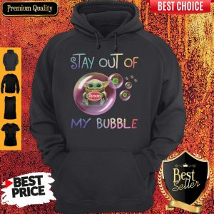 Star Wars Baby Yoda Hug Tyson Covid-19 Stay Out Of My Bubble Hoodie