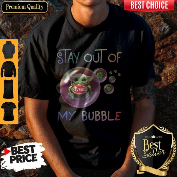 Star Wars Baby Yoda Hug Tyson Covid-19 Stay Out Of My Bubble Shirt