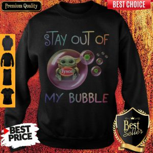 Star Wars Baby Yoda Hug Tyson Covid-19 Stay Out Of My Bubble Sweatshirt