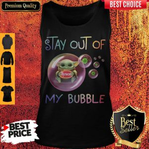 Star Wars Baby Yoda Hug Tyson Covid-19 Stay Out Of My Bubble Tank Top
