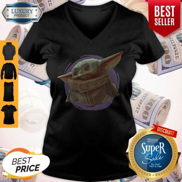Star Wars Baby Yoda The Mandalorian The Child Circle Halo V-neck