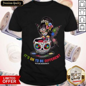 Sugar Skull Fairy Figurine It's Ok To Be Different Autism Awareness Shirt