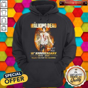 The Walking Dead 10th Anniversary 2010-2020 Thank You For The Memories Signature Wings Hoodie
