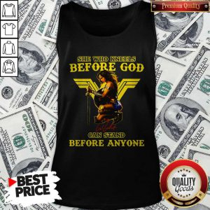 Wonder Woman She Who Kneels Before God Can Stand Before Anyone Tank Top