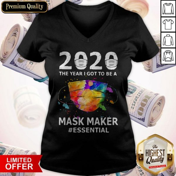 2020 The Years I Got To Be A Mask Makes Essential V-neck