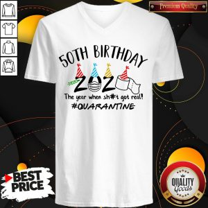 50Th Birthday 2020 The Year When Sh#t Got Real #Quarantine Face Mask And Toilet Paper Tank Top