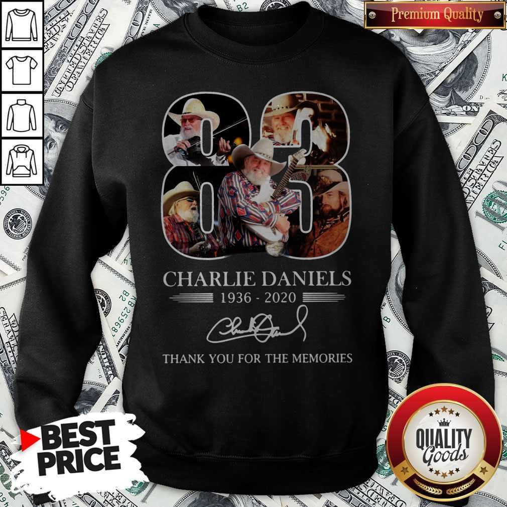 83 Charlie Daniels 1936 2020 Thank You For The Memories Signature Shirt