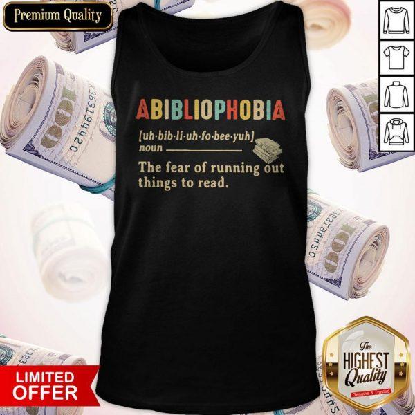 Abibliophobia Definition Vintage Sweatshirt