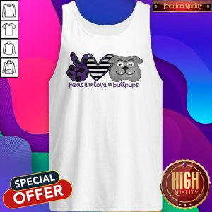 Awesome Peace Love Bullpups Tank Top