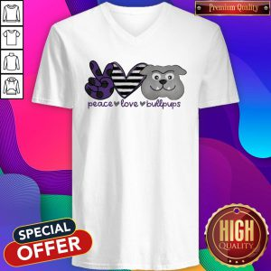 Awesome Peace Love Bullpups V-neck