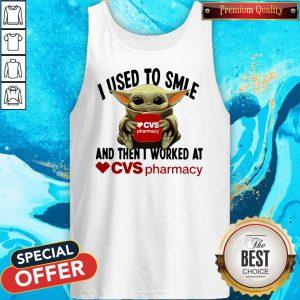Baby Yoda Hug CVS Pharmacy I Used To Smile And Then I Worked At Sweatshirt