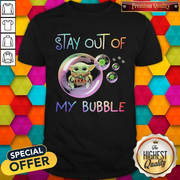 Baby Yoda Hug Texas Roadhouse Stay Out Of My Bubble Shirt