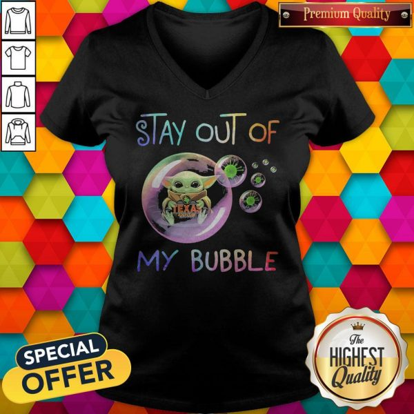 Baby Yoda Hug Texas Roadhouse Stay Out Of My Bubble V-neck