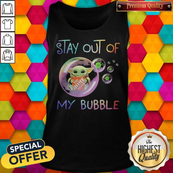 Baby Yoda Hug The Home Depot Stay Out Of My Bubble Tank Top