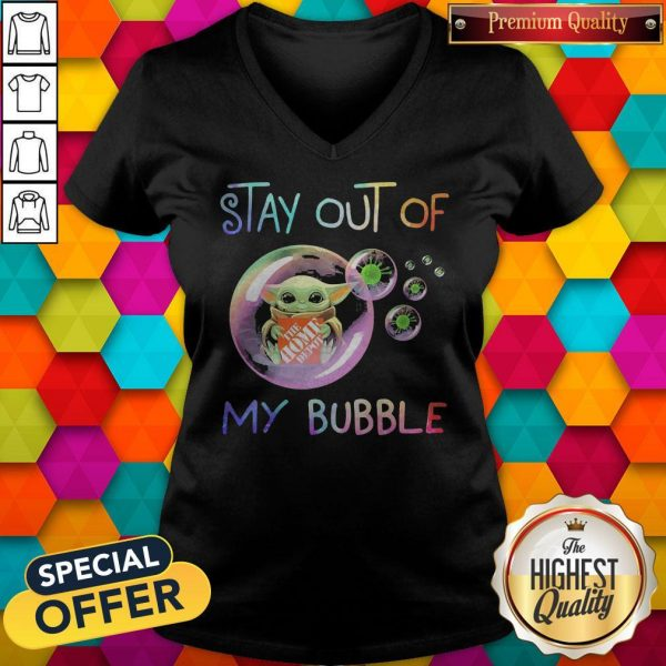 Baby Yoda Hug The Home Depot Stay Out Of My Bubble V-neck
