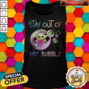 Baby Yoda Hug Tupperware Stay Out Of My Bubble Tank Top
