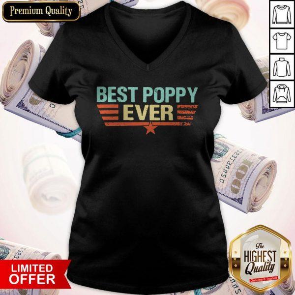 Best Poppy Ever 2020 Vintage V-neck