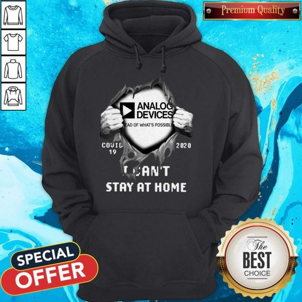 Blood Inside Me Analog Device Covid-19 2020 I Can't Stay At Home Hoodie